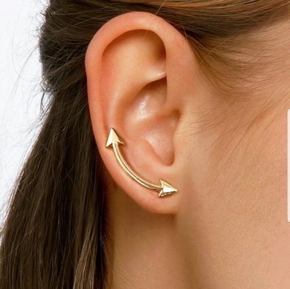 Nikkiwallflower Jewelry - *Helene* Arrow Crawler Earrings